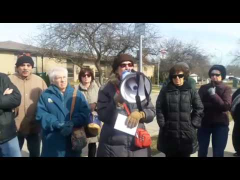 Valentine's Day Rally at Senator Gary Peters' office