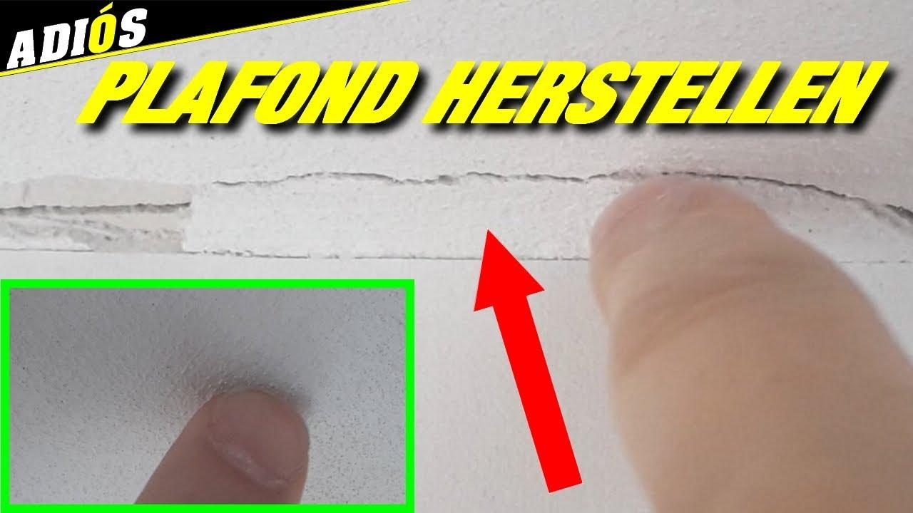 SCHEUREN IN PLAFOND REPAREREN ~ simpel trucje! - YouTube