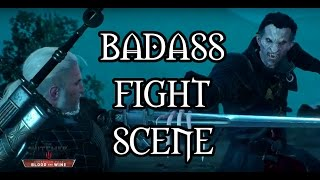 Witcher 3 Blood and Wine - Geralt and Regis vs Detlaff - Badass Cutscenes - Final Boss