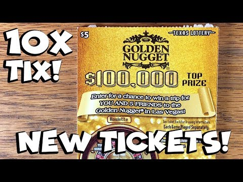 **$50 in NEW TICKETS** 10X $5 Golden Nugget! ✦ TEXAS LOTTERY Scratch Off Tickets