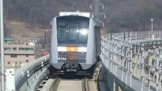 仁川都市鉄道2号線2000系 黔岩駅到着 Incheon Subway Line 2 2000 series EMU