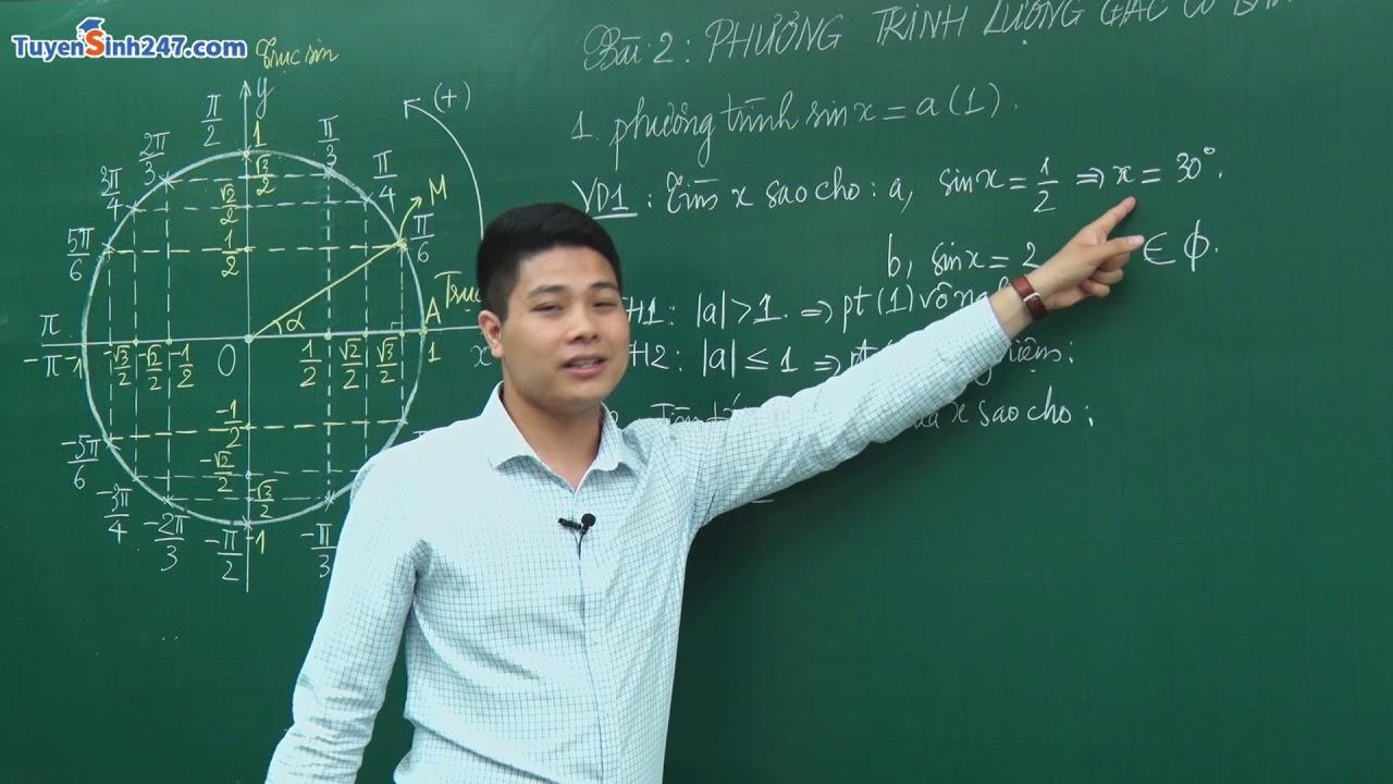 Phương trình lượng giác cơ bản – Toán 11 – Thầy giáo : Nguyễn Văn Đức