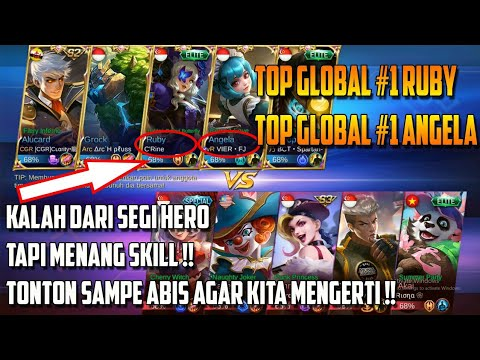 Top Global #1 Angela Main Bareng Top Global Ruby - Kalah Hero Tapi Menang Tonton Ampe Abis !!
