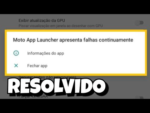 Como Resolver Problema Ao Aumentar Dpi Moto App Launcher Apresenta Falhas Continuamente Youtube