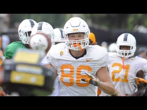 Clips from Tennessee Vols football practice Aug. 11