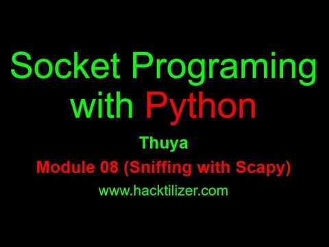 Module 08 Sniffing with Scapy (Socket Programming with Python)