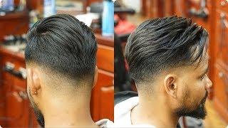 2018 Celebrity Barber : Low Bald Fade with Hard Part/Pompadour