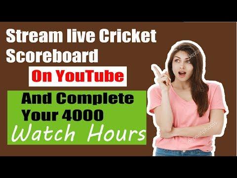 Cricket live score scoreboard