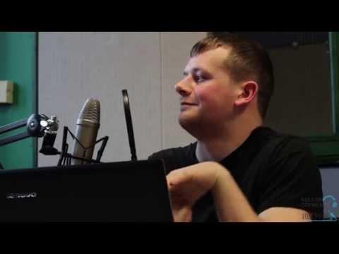 Gary Wales talks to Andrew Adams at Bangor Radio Station
