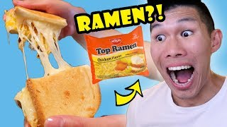 RAMEN IN GRILLED CHEESE SANDWICH? Tasty DIY || Life After College: Ep. 557 thumbnail