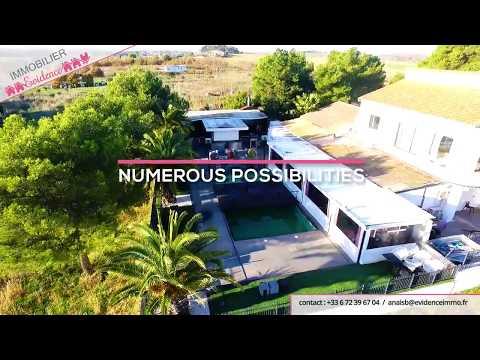 Vue aérienne par drone pour agence immobilière