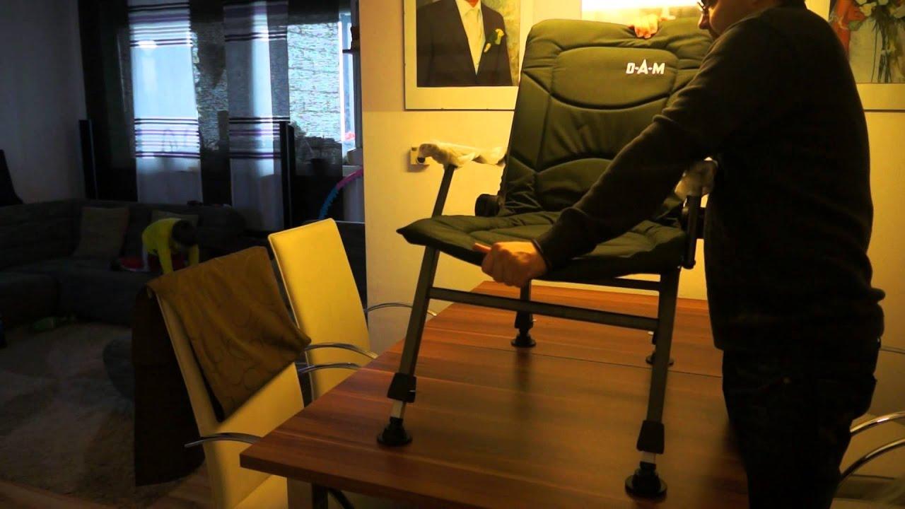 Fishing Chair Cuzo Nursery Recliner Karpfenstuhl Von Dam Youtube