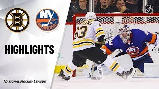 NHL Highlights | Bruins @ Islanders 1/11/20