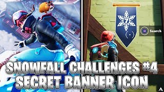 SECRET BANNER ICON! Week 4 Snowfall Challenges (Fortnite Season 7)