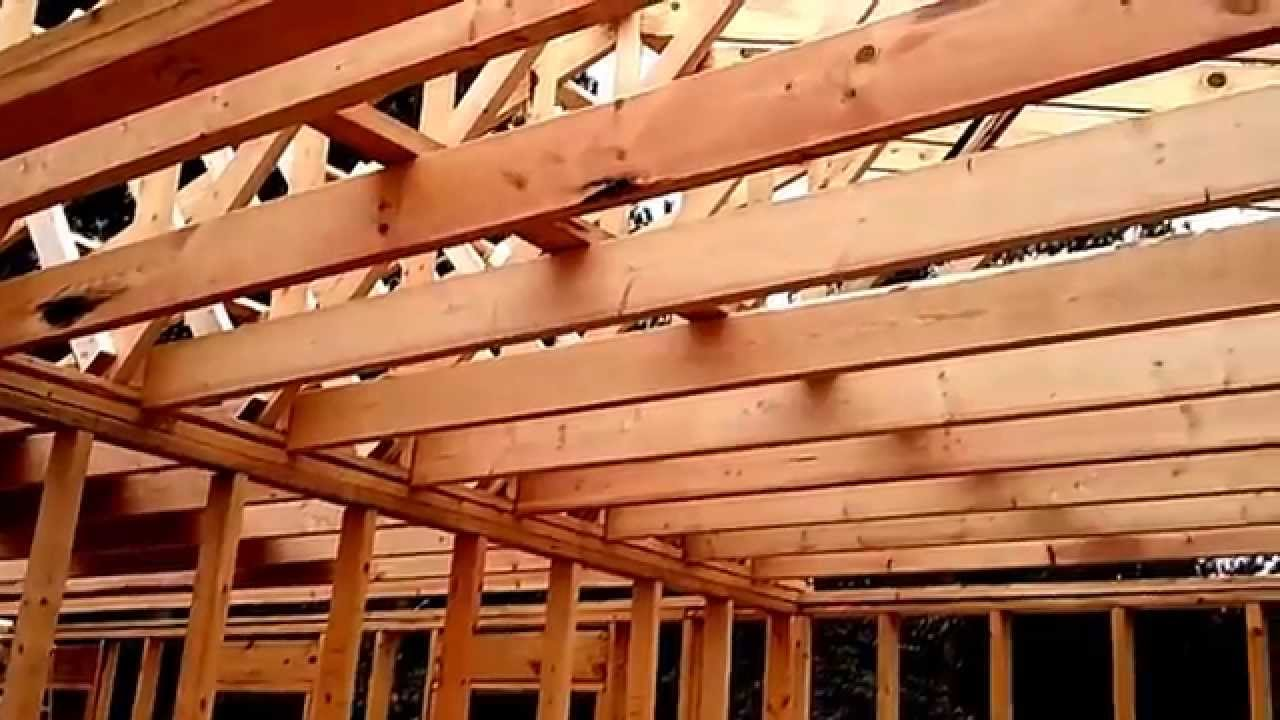 ceiling joist- cabin in the woods - youtube