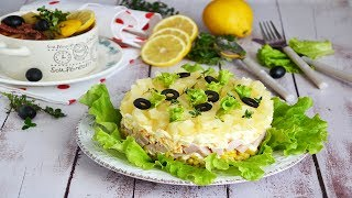 Салат Вкусняшка с ананасами