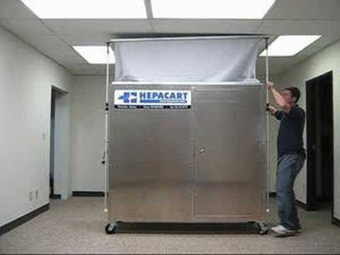 Ceiling Access Infection Control Containment Cart & Ceiling Access Infection Control Containment Cart - YouTube