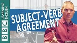 BBC Masterclass: Subject-Verb Agreement 1