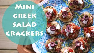 Mini Greek Salad Recipe | Healthy Snack Ideas
