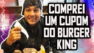 COMPREI COM CUPOM NO BURGER KING DOS EUA- INACREDITÁVEL O PREÇO QUE PAGUEI - Boston