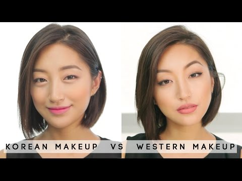 [MAKEUP] Korean makeup vs Western makeup | dahyeshka