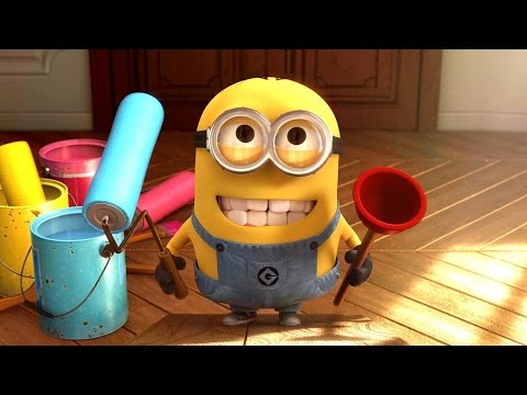 Minions Banana Baby Crib Funny Cartoon ~ Minions Finger Family Song Nursery Rhymes [4k]