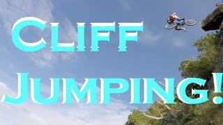 EXTREME CLIFF JUMPING! KID RIDES BIKE OFF CLIFF!
