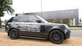 Land Rover Wrapped In Complaint Put Outside Dealership