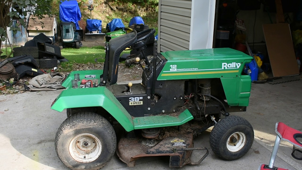 Overview Of The Rally Lawn Tractor Youtube