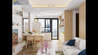 Thiết kế căn hộ 66m2- 2 Ngủ tại chung cư Đông Dương- Tp Bắc Ninh