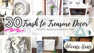 Top 30 Trash To Treasure Home Decor Ideas | Upcycle Diy Home Decor | Farmhouse Home Decor Diy