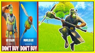 *NEW* SKY STALKER 'LEGENDARY SKIN' | PROPELLER AXE (Fortnite!) | Don't Buy These!