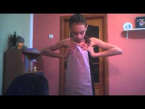 Покажу вам мои модельерские способности))))Как я сшила себе платье)))