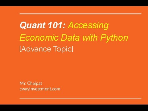 Accessing Economic Data with Python