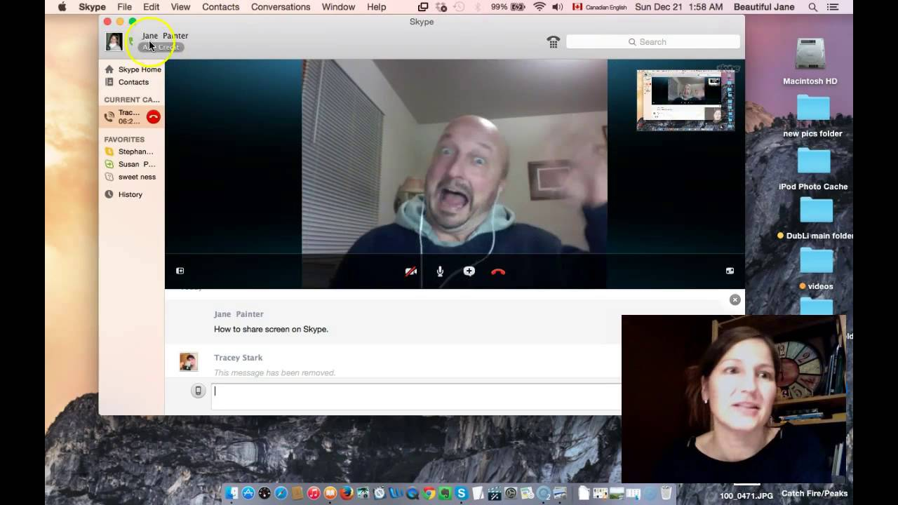 How To Screen Share While Using Skype On A Mac Youtube