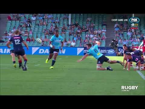 2018 Super Rugby Round Five: Taqele Naiyaravoro finishes Waratahs try of the year