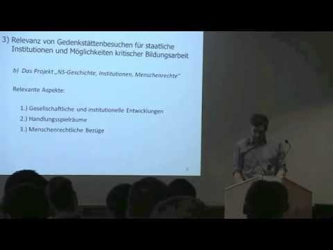 Oliver von Wrochem: Institutionelles Handeln im Nationalsozialismus und in der Gegenwart