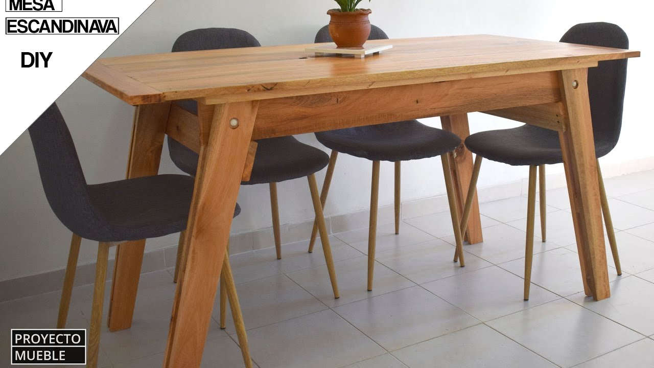 Mesas De Madera Para Camping Diy Mesa De Madera Escandinava How To Make Scandinavian Table