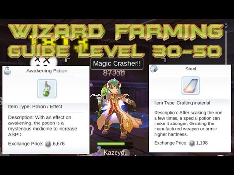 QUICK WIZARD FARMING GUIDE LVL 30-50 RAGNAROK MOBILE Eternal Love