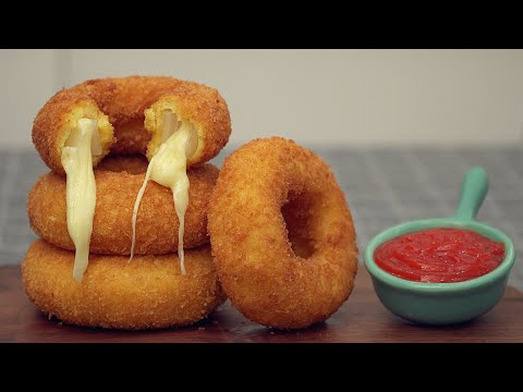 Mozzarella Onion Rings.How To Make Mozzarella Onion Rings Cheese Stick