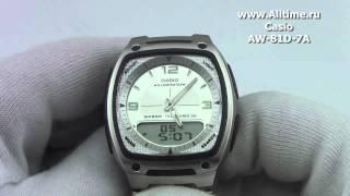 мужские японские наручные часы casio aw 81d 7a