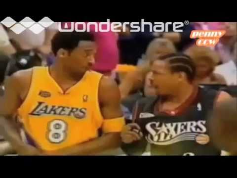 Allen Iverson and Kobe Bryant fight during 2001 NBA Finals