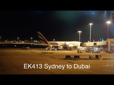 TRIP REPORT: Emirates EK413 Airbus A380-861 Sydney to Dubai ft. American Express Sydney Lounge