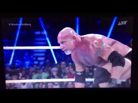GOLDBERG DEFEATED BROCK LESNAR IN 1:25 MINUTES