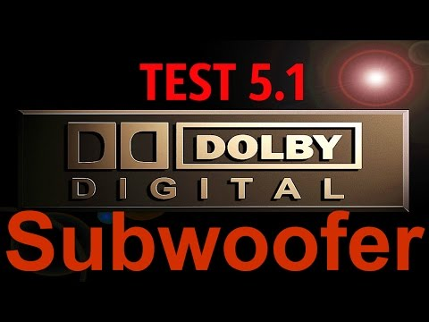 Dolby Digital 5.1 Test Subwoofer