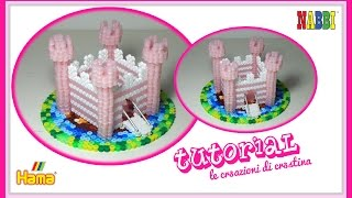CASTELLO 3D con Perline Hama beads/Nabbi/Pyssla - DIY Fairy Castle Tutorial