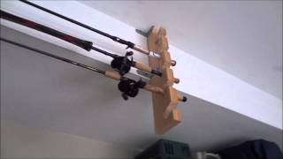 Diy Fishing Rod Holder From Materials Laying Around The House!