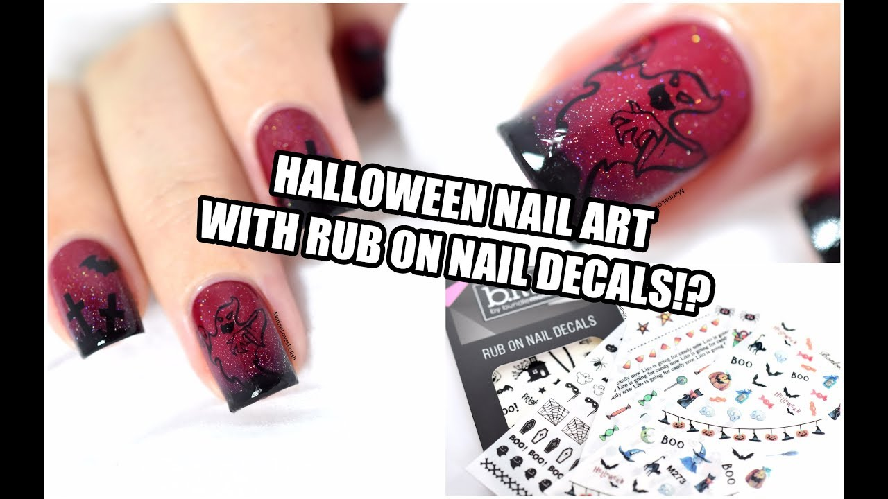 How To: Halloween Nail Art ft. Bundle Monster\'s Rub On Decals ...