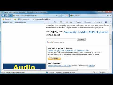 Audacity tutorial - 01 installazione - programma per modificare, tagliare, unire file audio