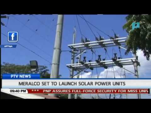 MERALCO set to launch solar power units